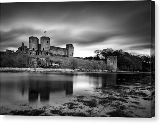 Fortification Canvas Print - Rhuddlan Castle by Dave Bowman