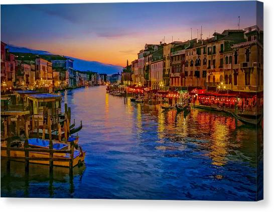 Rialto Evening Canvas Print