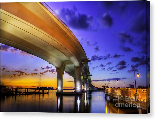 Low Tide Canvas Print - Ribbon In The Sky by Marvin Spates