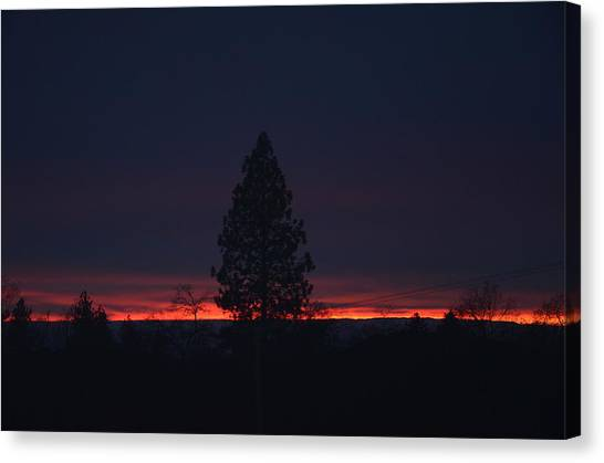 Ribbon Of Sunset Canvas Print