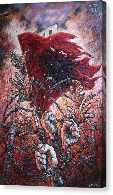 Ribellion On Infern Canvas Print by Lazar Taci