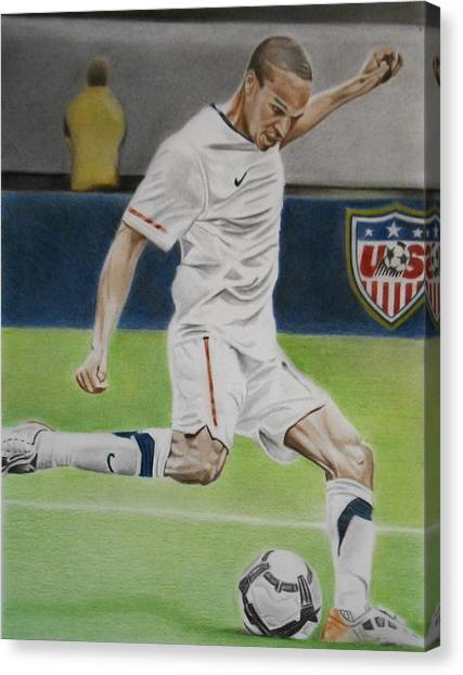 Mls Canvas Print - Ricardo Clark Usmnt by Brian Broadway