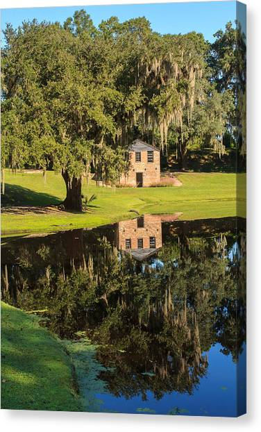 Rice Mill  Pond Reflection Canvas Print