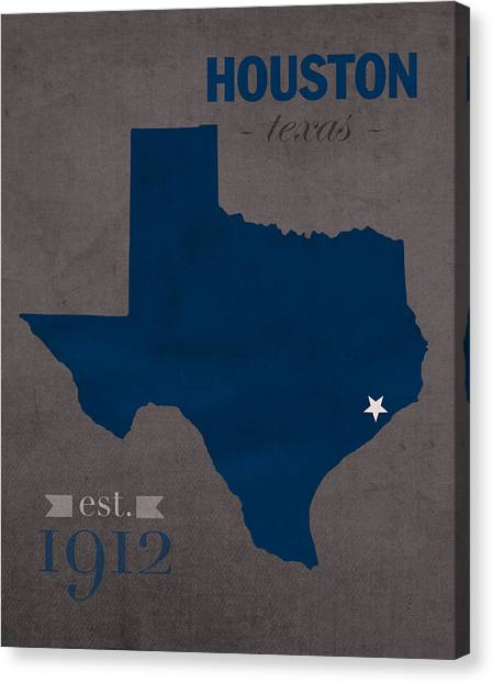 Texas State University Texas State Canvas Print - Rice University Owls Houston Texas College Town State Map Poster Series No 091 by Design Turnpike