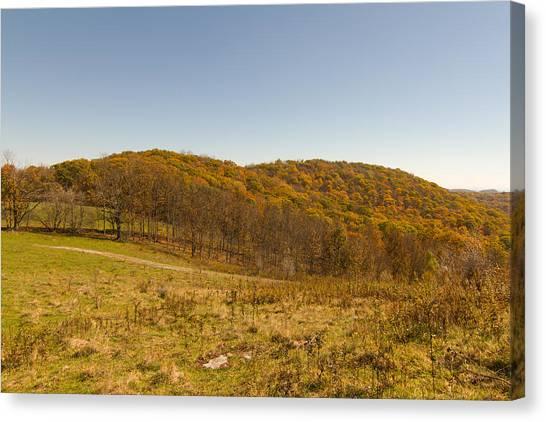 Rich Mountain Autumn Canvas Print