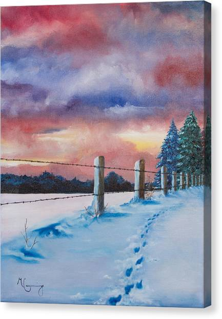 Rich Wintertide Canvas Print