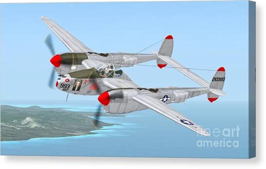 Richard Bong's P-38 Lightning Marge Canvas Print