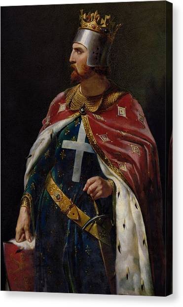 The Crown Canvas Print - Richard I The Lionheart by Merry Joseph Blondel
