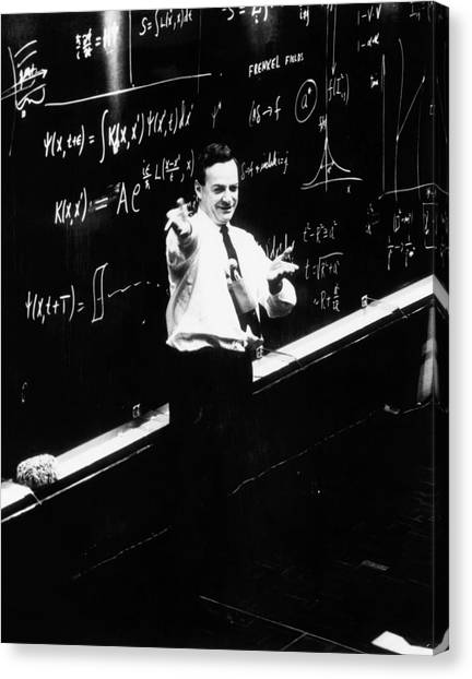 Behaviour Canvas Print - Richard P. Feynman (1918-1988) by Cern/science Photo Library