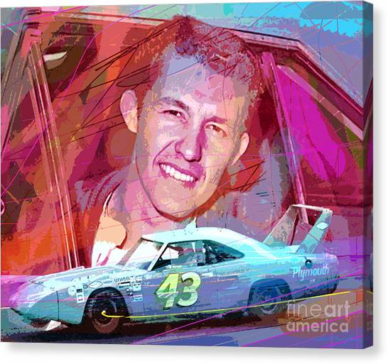 Nascar Canvas Print - Richard Petty Superbird by David Lloyd Glover