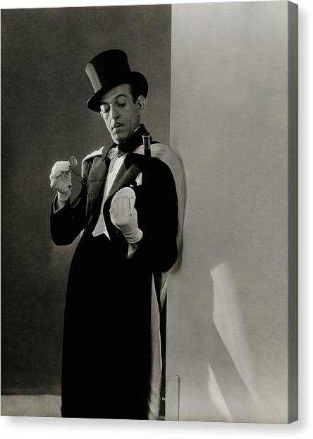 Hat Trick Canvas Print - Richard Pitchford Doing A Card Trick by Lusha Nelson