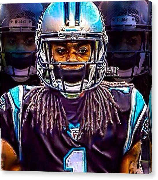 Panthers Canvas Print - Richard Sherman Jersey Swap Edit! Not by Matt Pollock