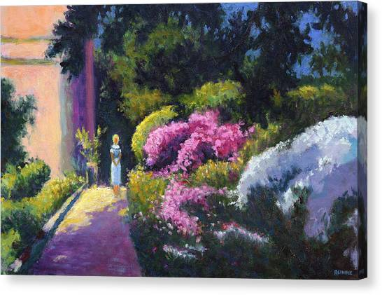 Richards Dar House Garden Light Canvas Print