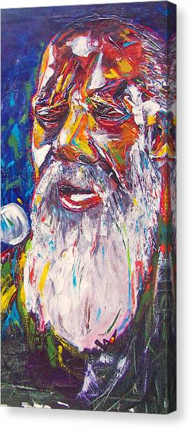 Richie Havens - Freedom Canvas Print by Valerie Wolf