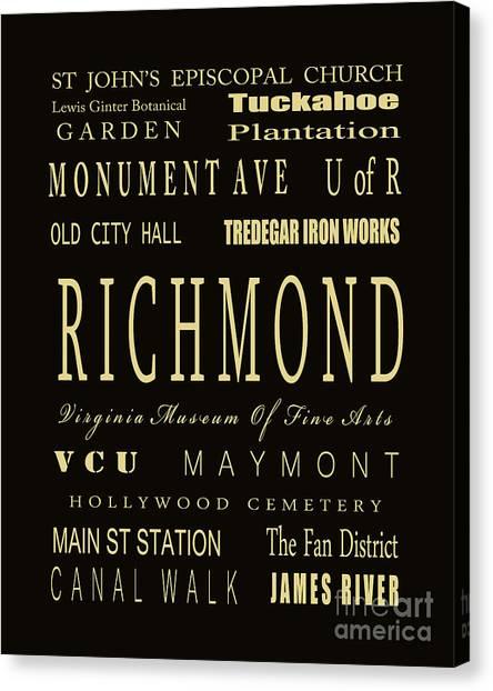Virginia Commonwealth University Vcu Canvas Print - Richmond Virginia Subway Bus Tram Scroll Art - by Dave Lynch