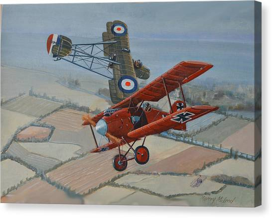 Richtofen And Hawker Combat Canvas Print