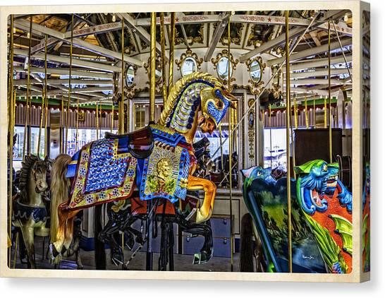 Ride A Painted Pony - Coney Island 2013 - Brooklyn - New York Canvas Print