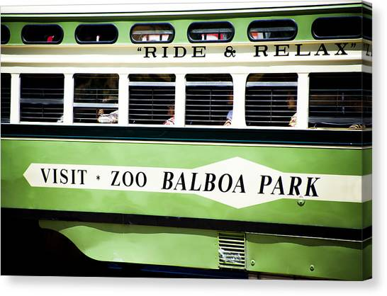 Ride And Relax San Francisco Street Car Canvas Print by SFPhotoStore