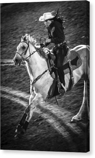Barrel Racing Canvas Print - Ride by Caitlyn  Grasso