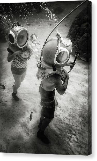 Aquariums Canvas Print - Ride Clear Water by Mathilde Guillemot
