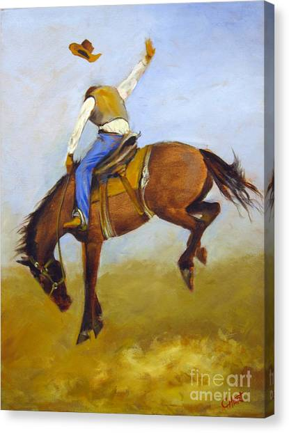 Ride 'em Cowboy Canvas Print