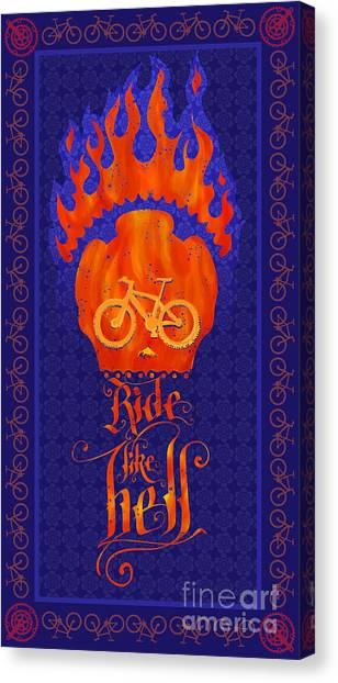Dia Del Muerto Canvas Print - Ride Like Hell by Sassan Filsoof