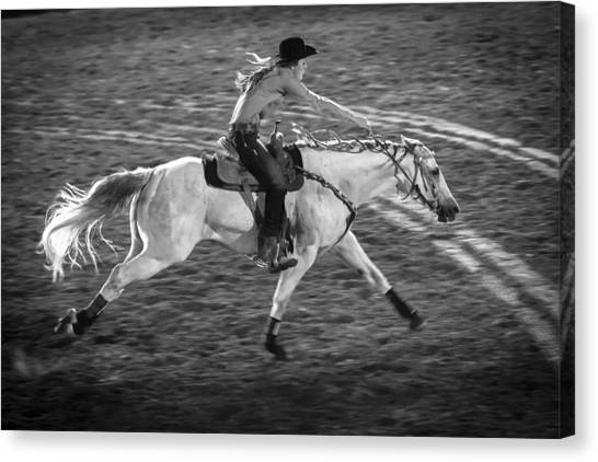 Barrel Racing Canvas Print - Ride Like The Wind by Caitlyn  Grasso