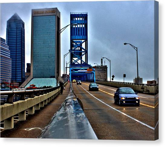 Ride The Rail Canvas Print