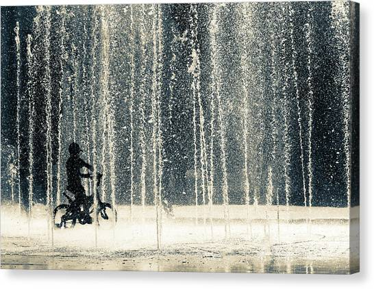 Iranian Canvas Print - Ride Through The Drops by Ehsan Razzazi