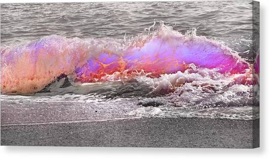 Tumbling Canvas Print - Ride Your Wave by Betsy Knapp