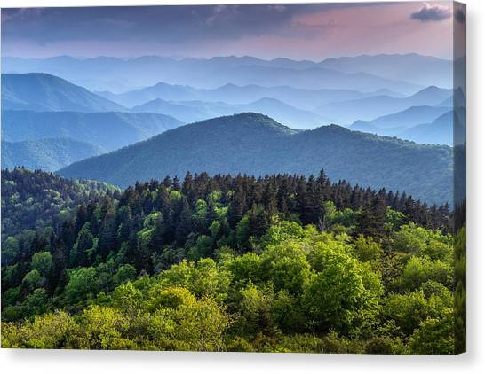 Ridges At Sunset Canvas Print