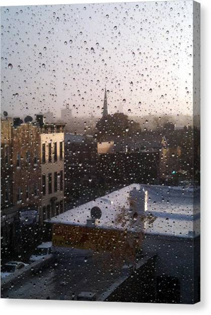 Ridgewood Wet With Rain Canvas Print