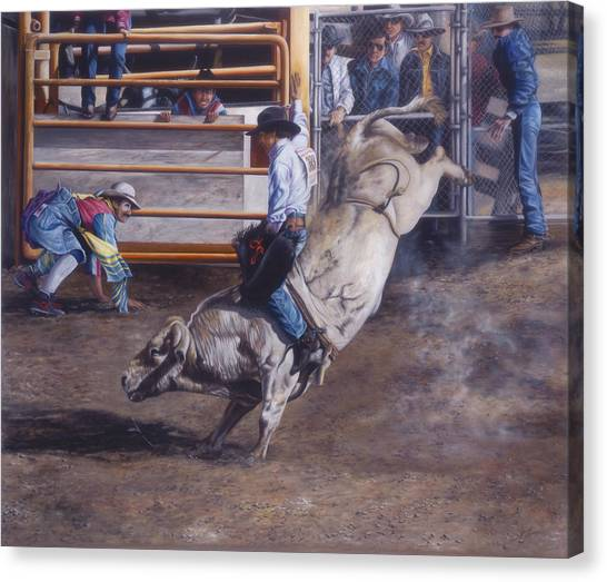 Rodeo Clown Canvas Print - Ridin' Crawdad by Glenda Stevens