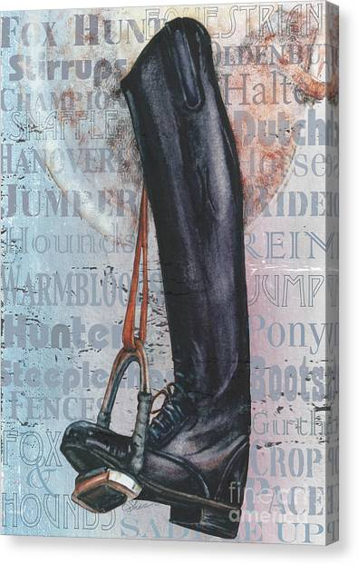 Riding Boot  Canvas Print