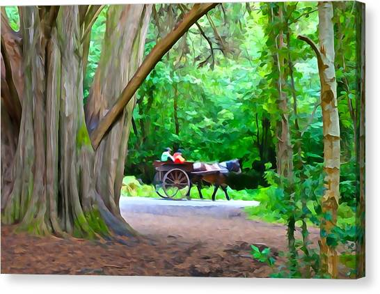 Riding In Style Canvas Print