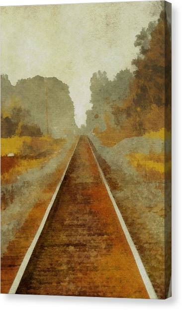 Train Conductor Canvas Print - Riding The Rails by Dan Sproul