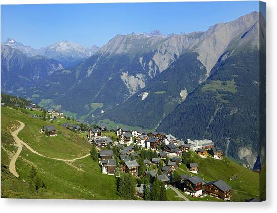 Riederalp Valais Swiss Alps Switzerland Canvas Print