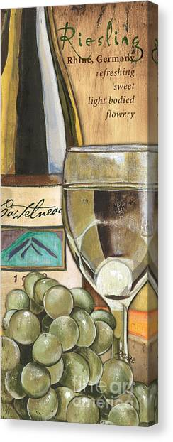 Liquor Canvas Print - Riesling by Debbie DeWitt