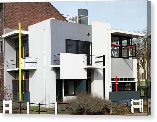 De Stijl Canvas Print - Rietveld Schroder House Utrecht Pan by Dirk Wiersma