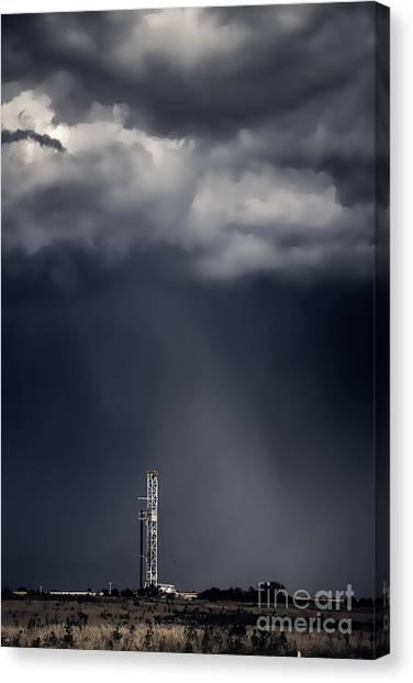 Rig In The Rain Canvas Print