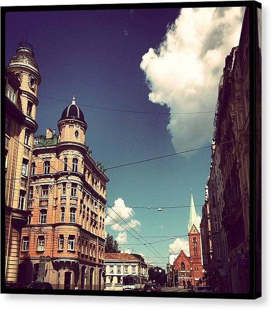 Geometric Canvas Print - Riga by Raimond Klavins