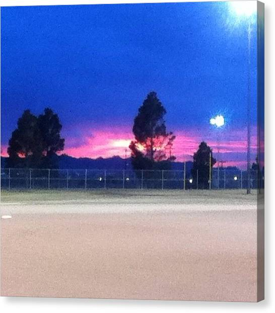 Softball Canvas Print - Right Before Our Games 👌⚾⚾ by LaCeshia Kurnaz