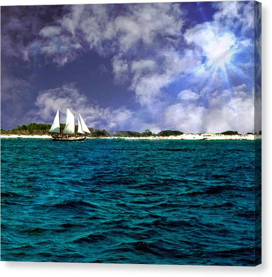 Right On Course...... Canvas Print