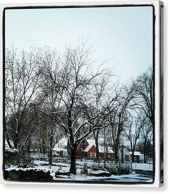 Dodge Canvas Print - Right Outside My House by Wendy Dodge