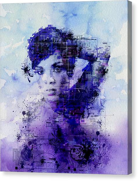 Rihanna Canvas Print - Rihanna 2 by Bekim Art