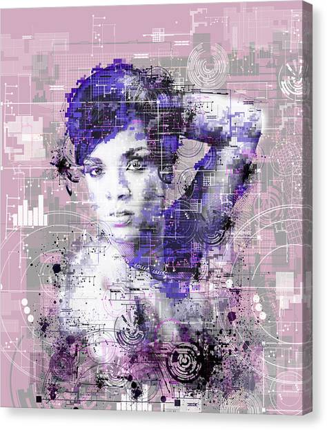 Rihanna Canvas Print - Rihanna 3 by Bekim Art