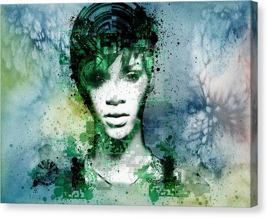 Rihanna Canvas Print - Rihanna 4 by Bekim Art