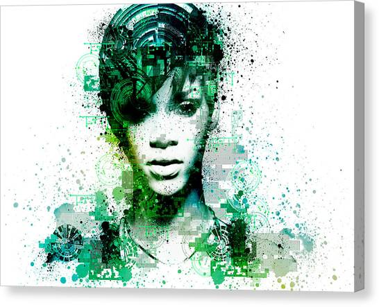 Rihanna Canvas Print - Rihanna 5 by Bekim Art