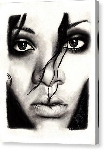 Rihanna Canvas Print - Rihanna by Rosalinda Markle
