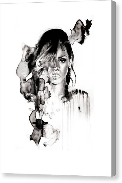 Rihanna Canvas Print - Rihanna Stay by Molly Picklesimer